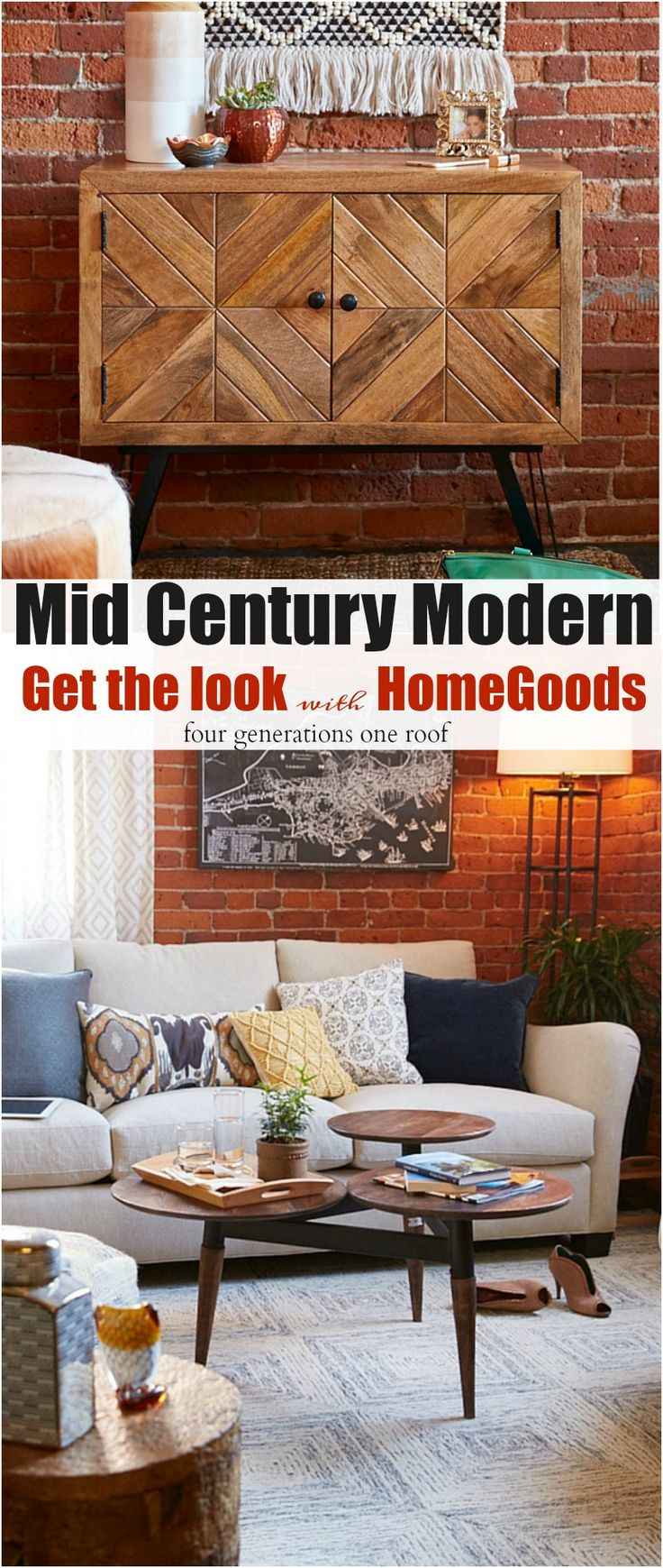 Mid century modern living room reveal behind the scenes for Cost to build mid century modern home