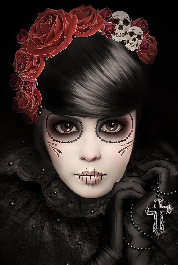 Dia de los Muertos | Dia de los Muertos Add skulls to the floral headband