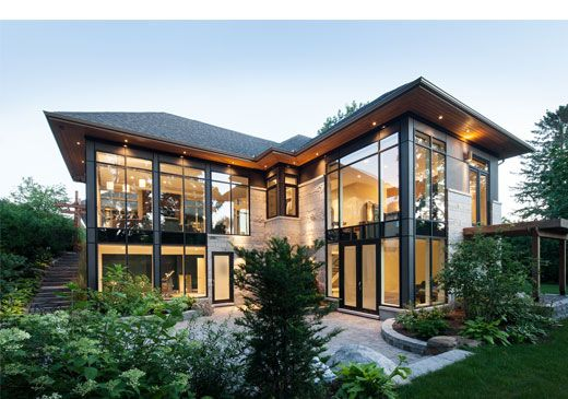 Courtyard Bungalow in Ottawa, Ontario by Christopher Simmonds Architect