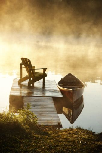 There's no place quite like the mist of morning and the stillness of the water... Brings back so many memories since it is such a distinct moment...