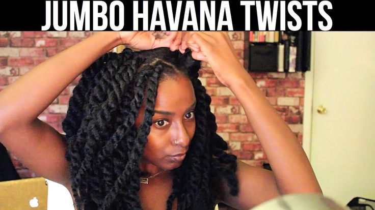 Quick protective style! Jumbo Havana Twists
