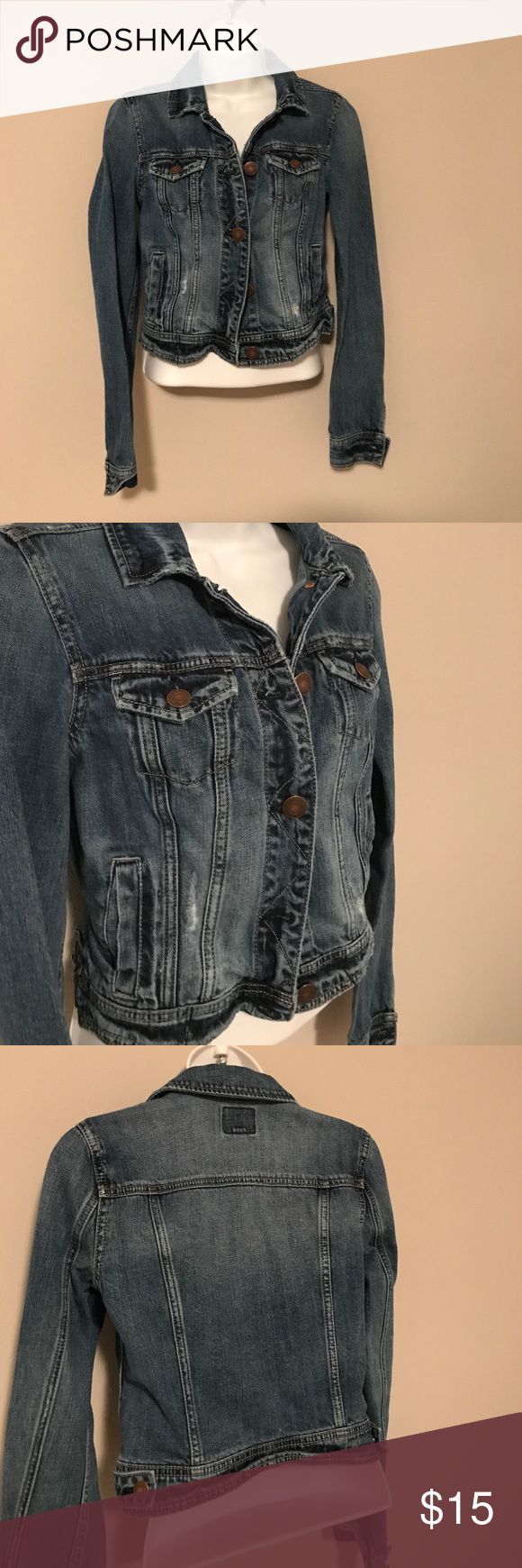 American Eagle jean jacket American Eagle blue jean jacket good used condition size xs. American Eagle Outfitters Jackets & Coats Jean Jackets
