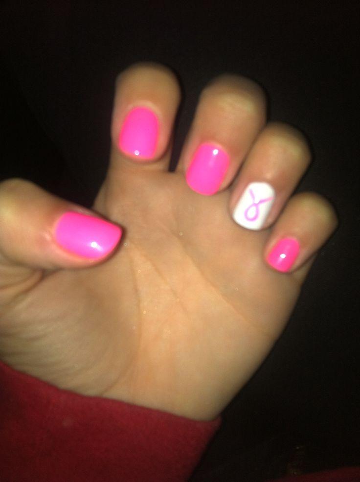 #Brustkrebs #Hoffnung #Nägel #Oktober   – Cute nails
