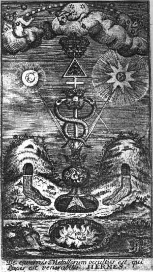 "Hermetic representation of the alchemic principles of duality "" as above so below, as within so without"""
