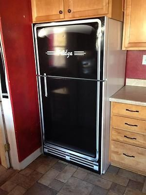 Vintage Black Refrigerator Wrap Rm Wraps Loves Old Looking