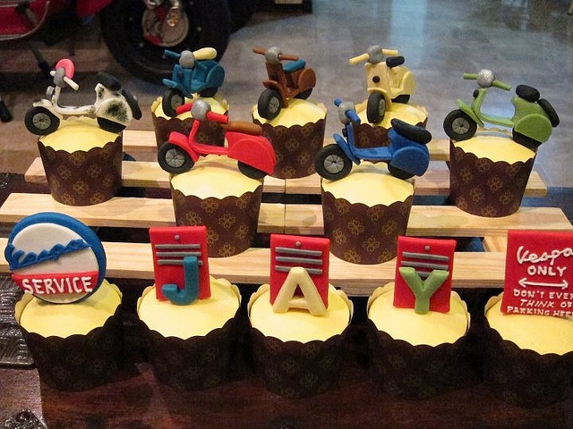 my vespa birthday cupcakes by china_chap, via Flickr