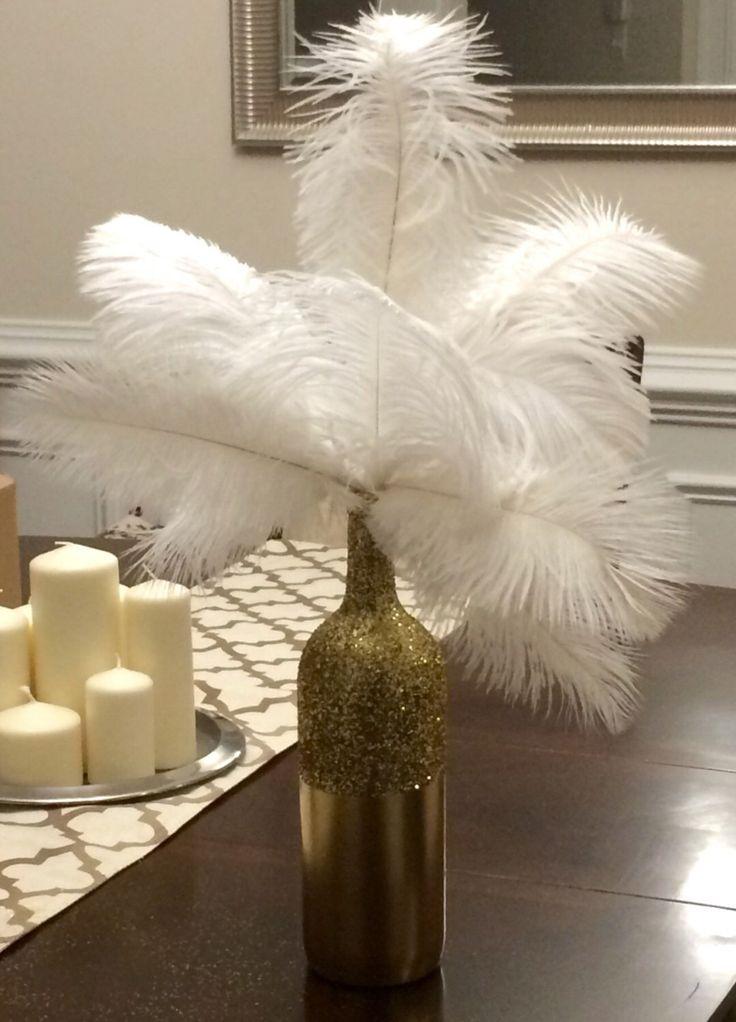 Art Deco - Roaring Twenties - Vintage - Great Gatsby Wedding/Party/Event  Ostrich Feather Centerpiece von babyboutins auf Etsy https://www.etsy.com/de/listing/221609429/art-deco-roaring-twenties-vintage-great