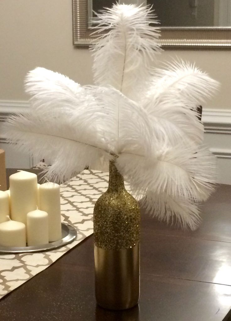 Ideas about ostrich feather centerpieces on