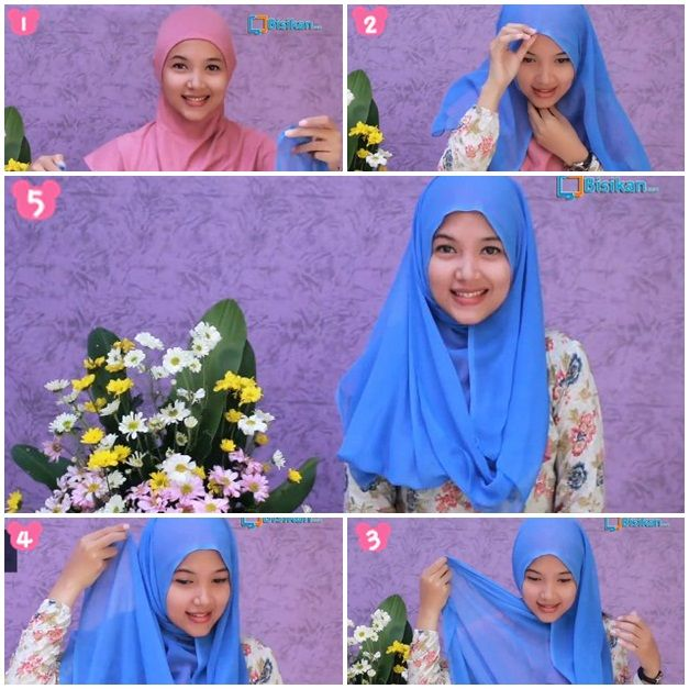 Tutorial Hijab Simple Paris Segiempat #2/Hijab Tutorial Simple Square Scraft