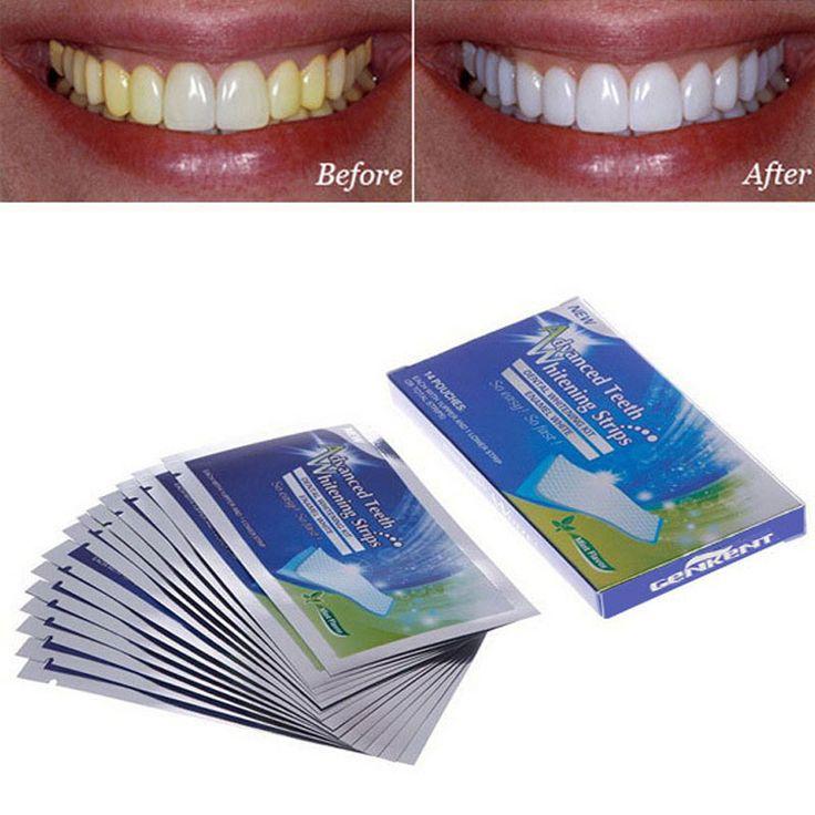 14 Pairs Nieuwe Geavanceerde Tanden Strips Gel Care Mondhygiëne Clareador Tandheelkundige Bleken Tooth Whitening Bleekmiddel Witter Gereedschap