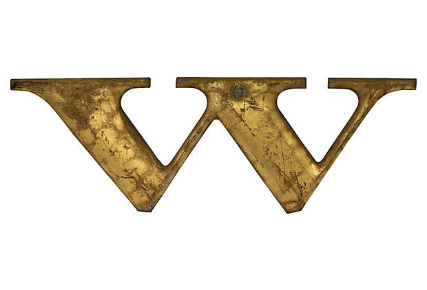 Woolworth Letter W,  C. 1910 on OneKingsLane.com: Woolworth Letters, Letters W