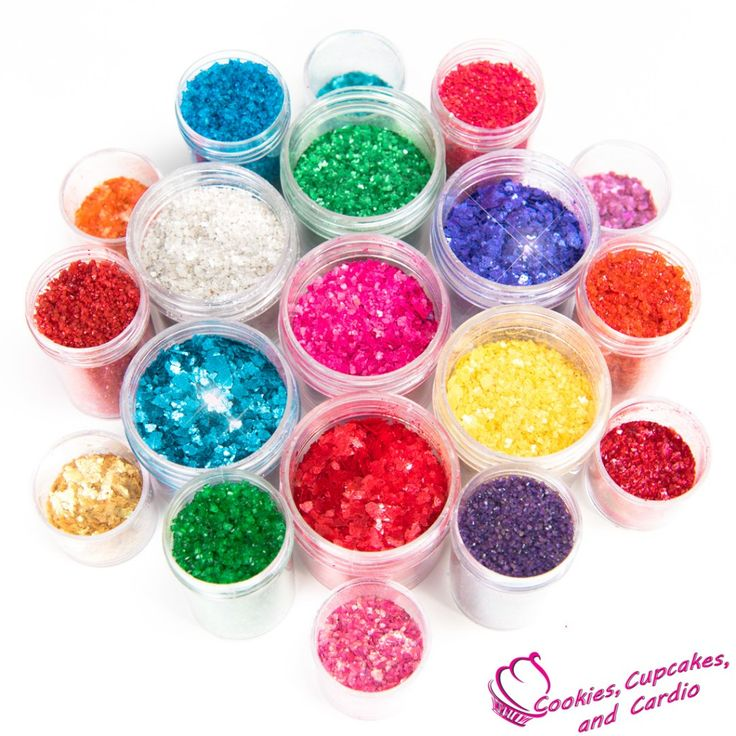 How to make edible glitter from Cookies Cupcakes and Cardio