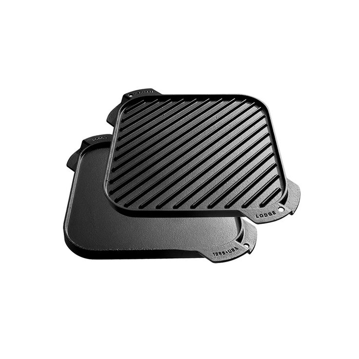 Single Burner Reversible Grill/Griddle  10.5x10.5 // $47.00 -- grill press is separate.