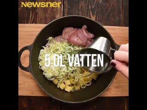 Kycklingpasta med dragon som lagas i en och samma kastrull! - YouTube (in Swedish) Chicken cooked in the same saucepan as the pasta.