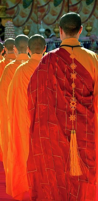 Monks in line...
