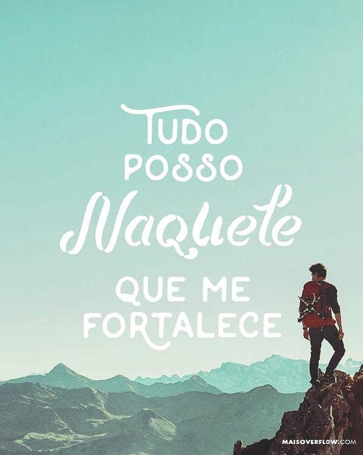 """Tudo posso naquele que me fortalece."" - Filipenses 4:13 () maisoverflow.com  #30daysofbiblelettering  X"