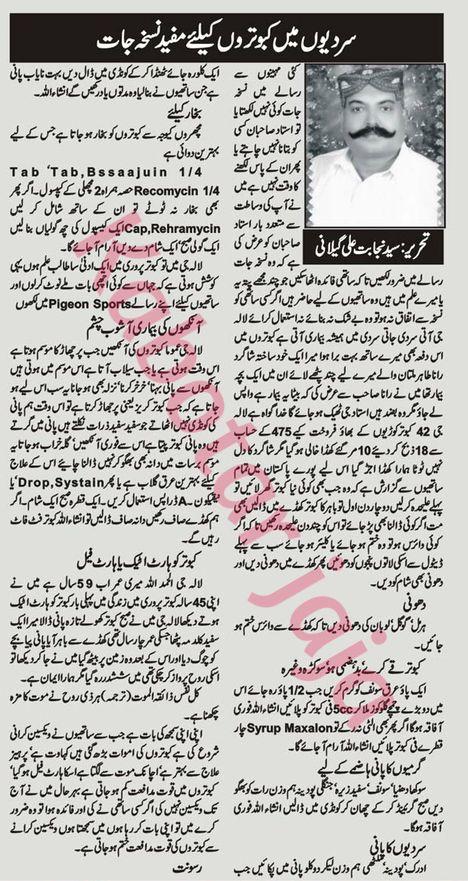 Pigeon Diseases and Treatment Urdu