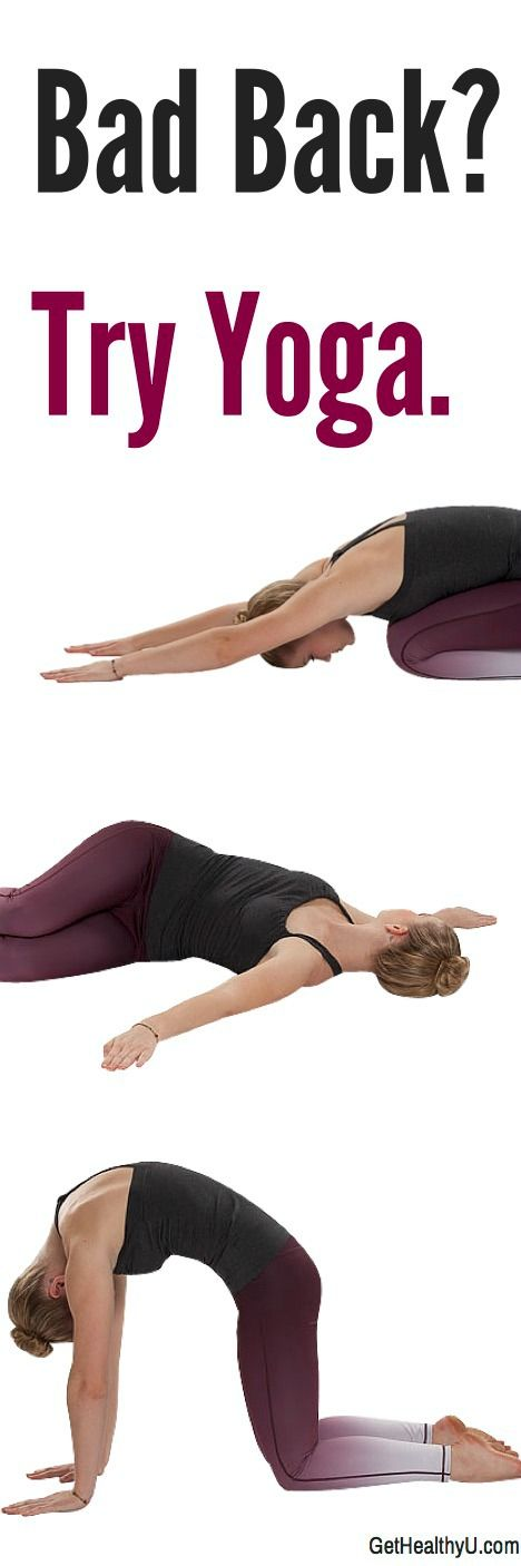 Back problems? Try this quick yoga flow sequence for the beginner or the advanced to find relief in your spine. Pin for later!