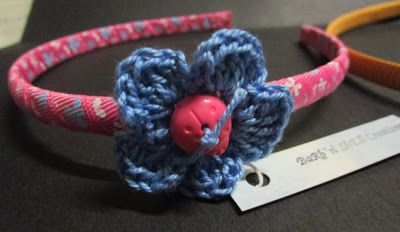 BaRb'n'ShEll Creations  - Hairbands created using Flowers by Shell