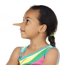 """The entire topic of lying is a complicated one for parents to tackle, as the social necessity of tiny """"white lies"""" makes the subject a murky one for kids to grasp. One thing that all parents agree on, regardless of parenting style, is the need to teach children that blatant dishonesty for personal gain is wrong. For repeat offenders, here are ten ways to teach the consequences of lying."""