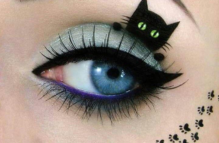 Maquillaje de ojos inspirado en Gatos