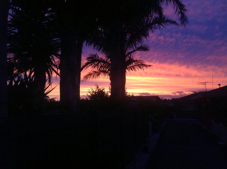 Sunset up my driveway