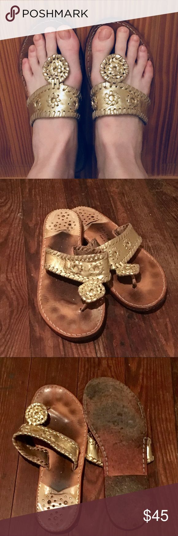 Genuine Palm Beach Sandal Company Sandals! Authentic Palm Beach Sandal Company sandals. Handcrafted. Supple leather. Broken in and comfy. Moderate wear. Palm Beach Sandal Company Shoes Sandals