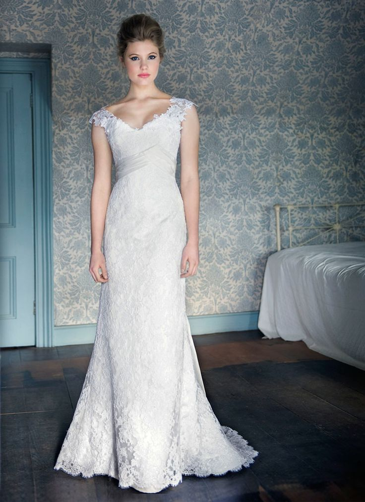 Corded Lace Wedding Dress :: White Bridal Collection