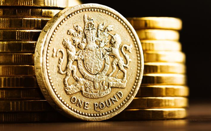 Pound sterling, Pound, British pound, pound symbol, coins, currency, British…