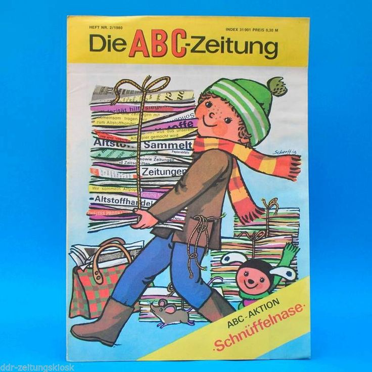 DDR ABC-Zeitung 2-1980 Zeitschrift für Junge Pioniere + Bastelbogen NVA-Fahrzeug | eBay