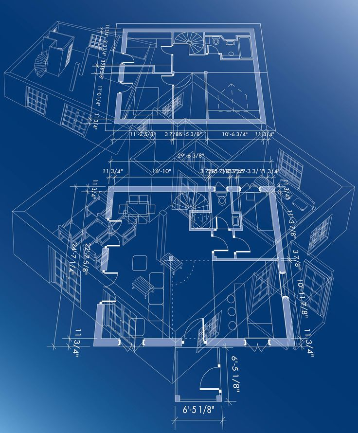 Good 3d building scheme and floor plans ideas for house for House building blueprints