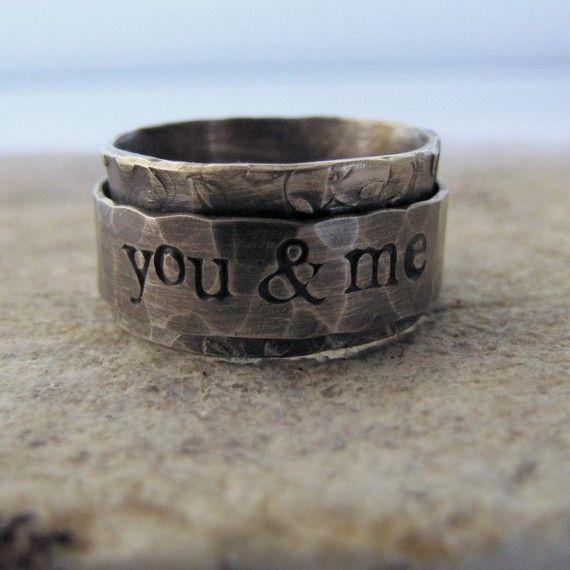 rustic spinner ring: Celebrity Rings, Handmade Rings, Wedding Band, Spinner Rings, Bohemian Style, Jewelry Rings, Men Rings, Memorial Mornings, Rustic Spinner