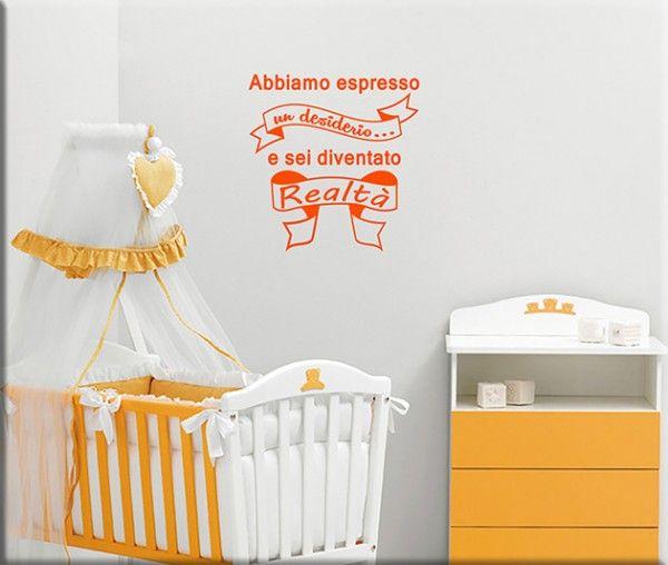 decorazioni adesive murali frase bebè bambino