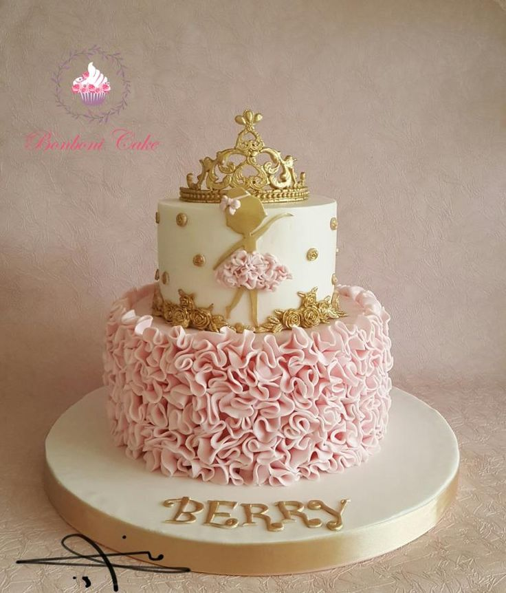 A cute cake for young cute girl . It take a long time to make the first cake but i love it