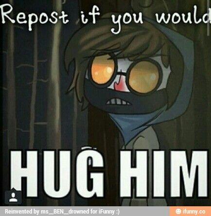 (Runs to him and gives him a hug)