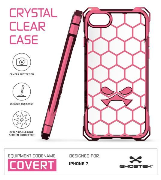 iPhone 7 Case, Ghostek® Covert Peach Series for Apple iPhone 7 Premium Impact Protective Armor Case Cover | Clear TPU | Lifetime Warranty Exchange | Explosion-Proof Screen Protector | Ultra Fit (Peach)  PRECISELY CUT: With the case cut so precisely, the iPhone 7 headphone and microphone jacks will be just as accessible. You'll only have to carry what you need, making international travels a breeze. 5 COLORS TO CHOOSE FROM: Clear, Space Gray, Rose Pink, Peach, Teal & Gold. Perfect for any…