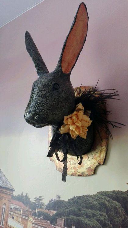 Купить или заказать Кролик на стену. в интернет-магазине на Ярмарке Мастеров. Голова кролика необычный арт-объект, который украсит ваш интерьер. .