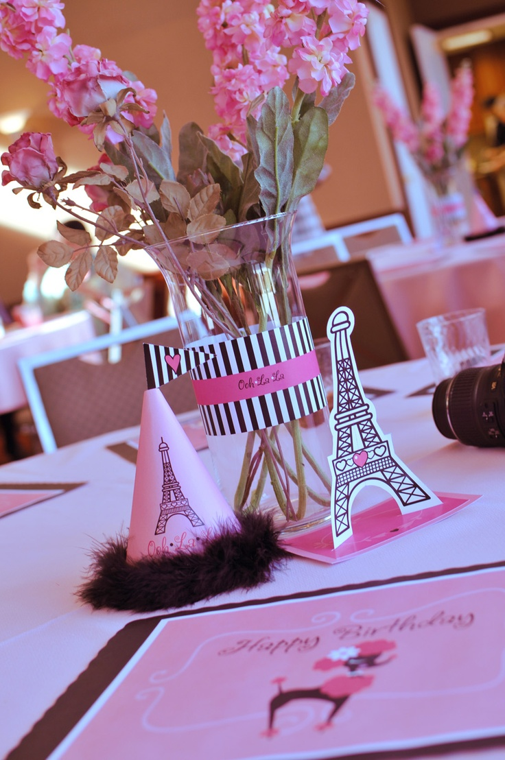 Paris themed birthday party ideas - Pink Black Paris Themed Party Find Everything You Need To Throw Your Own French