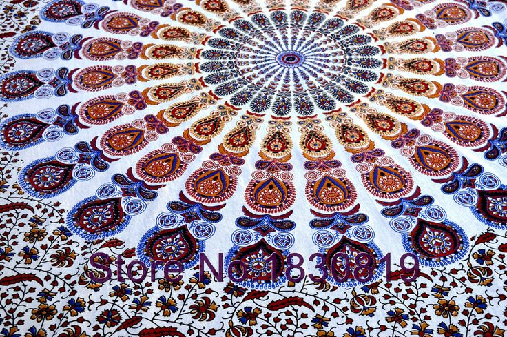Indian Mandala Tapesty Hippie Tapestry Bohemain Bedding Vintage Blanket Throw (TWIN SIZE, 100% PREMIUM QUALITY R).