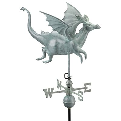 Basil Street Gallery The Castle Guardian Dragon Full Size Copper Weathervane