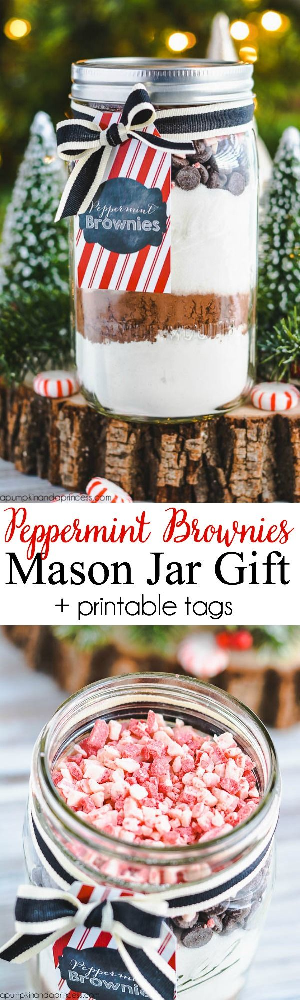 Peppermint Brownie Mix - Mason Jar Gift by MichaelsMakers A Pumpkin And A Princess