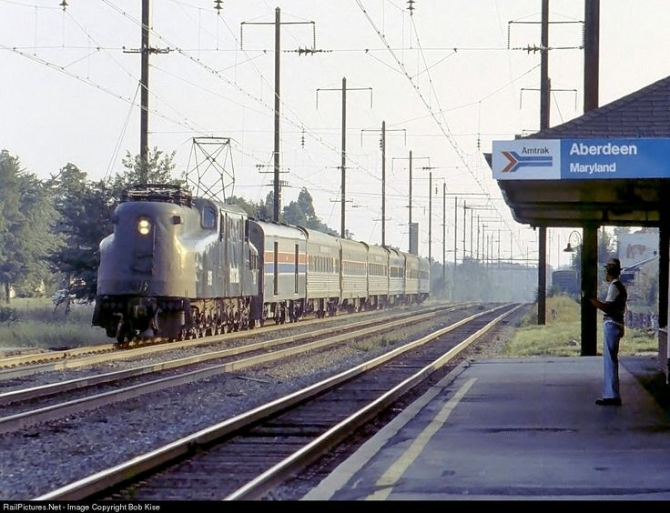 RailPictures.Net Photo: AMTK 918 Amtrak GG-1 at Aberdeen, Maryland by Bob Kise