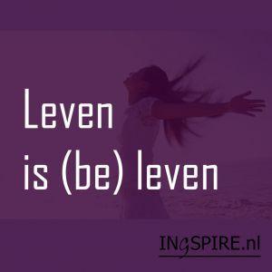 Spreuk: Leven is (be) leven,. In voor/tegenspoed....lbxxx.