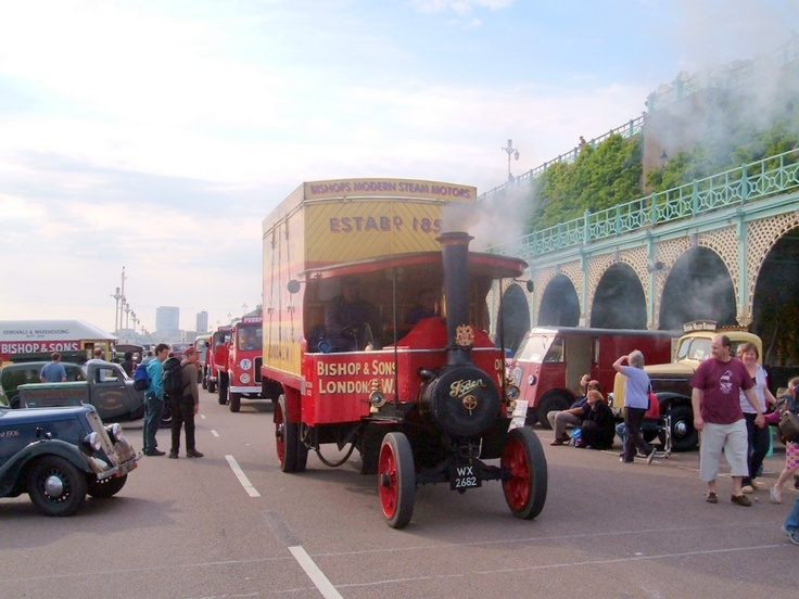 #OurHistoricVehicles #BishopsMove The #Foden HH #Steam #Wagon at Brighton (HCVS London to Brighton Run 2012)