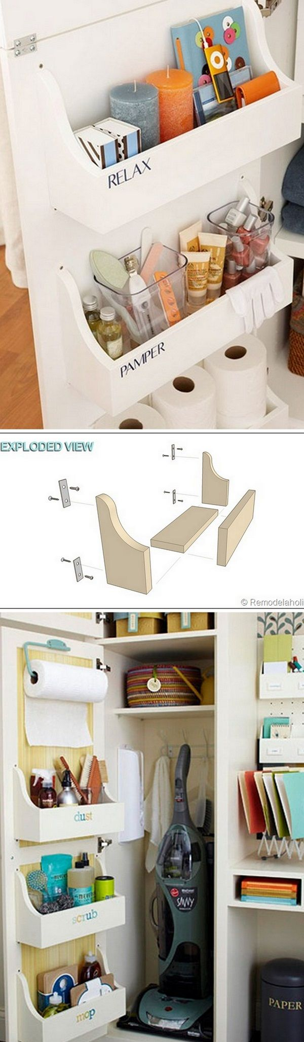 Check out how to easily build this DIY cabinet door storage bin @istandarddesign