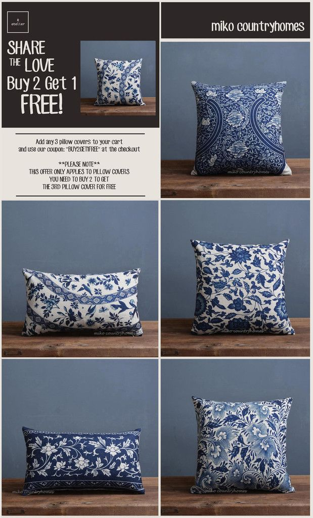 $15 | Blue & White Chinoiserie Floral Art Motif Pillow Cover – R.atelier  #Chinoiserie #HomeDecor #PillowCovers #DecorTrends #BUY2GET1 #GiftsForHer #GiftsIdeas #Decorate