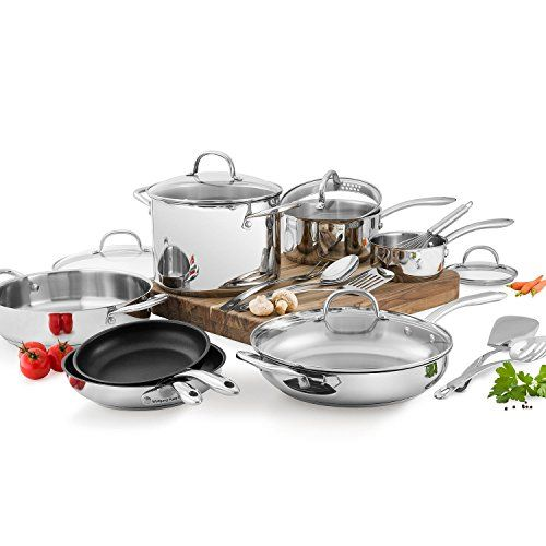 Wolfgang Puck Stainless Steel 18 PC cookware Set Wolfgang... https://www.amazon.com/dp/B001AX7RNY/ref=cm_sw_r_pi_dp_x_S4MjzbTE6ACFQ