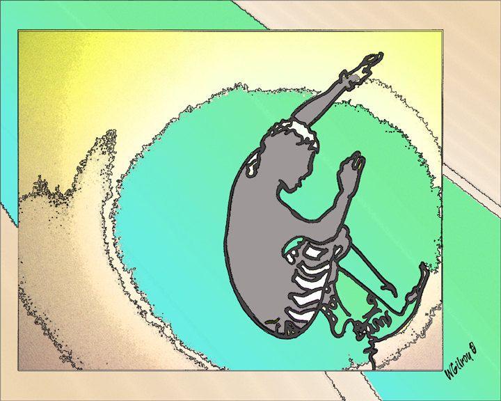 Wave Art...Surf Art ...Surfing Art...Beach Art...Surf Art...Beach Wall Art...Surfboard design by WGilroy on Etsy