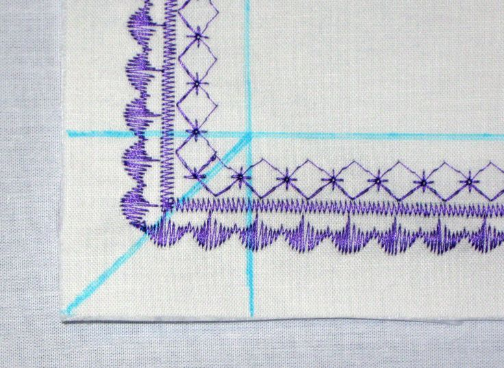 How to Turn a Corner with a Decorative Stitch | Sew4Home
