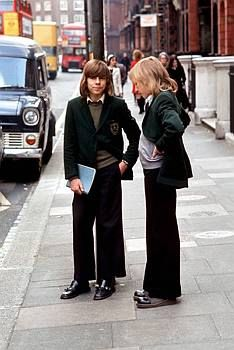 1960s British boys, my secondary school uniform was similar but we weren't allow hair as long as theirs.